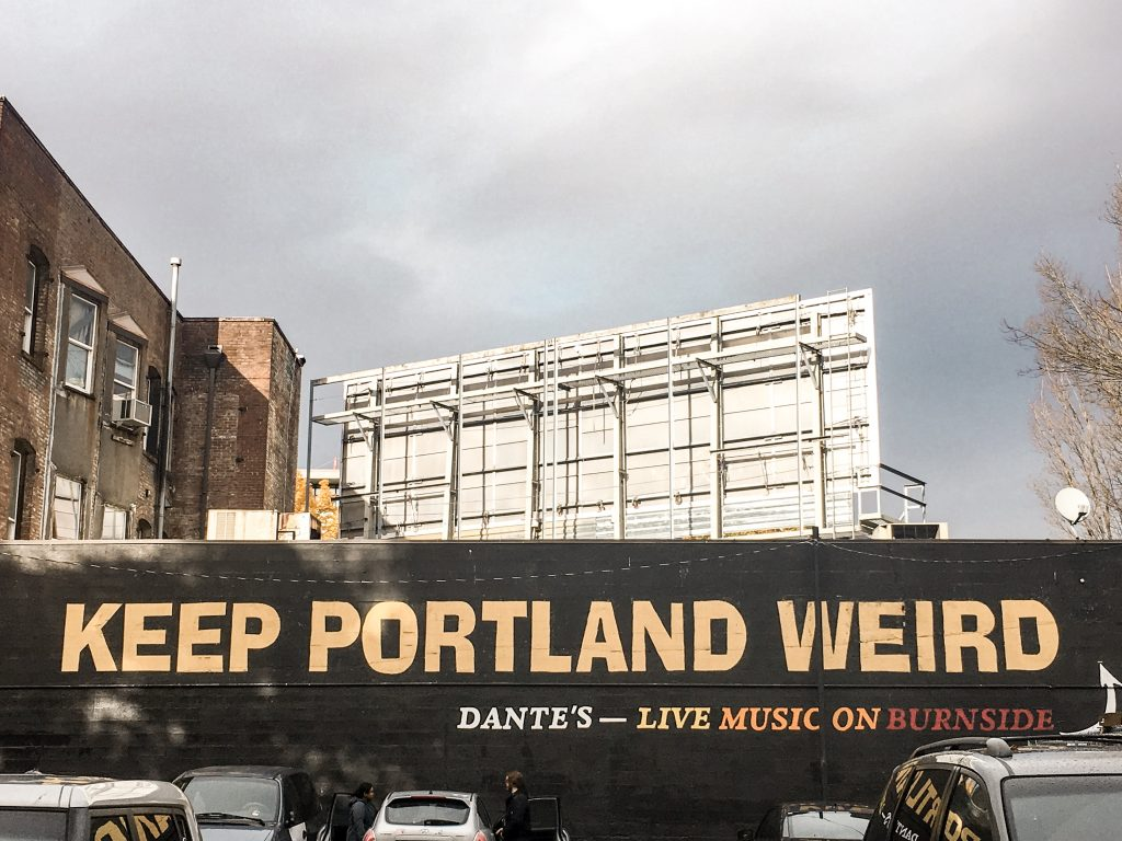 Portland Itinerary: Keep Portland Weird Mural