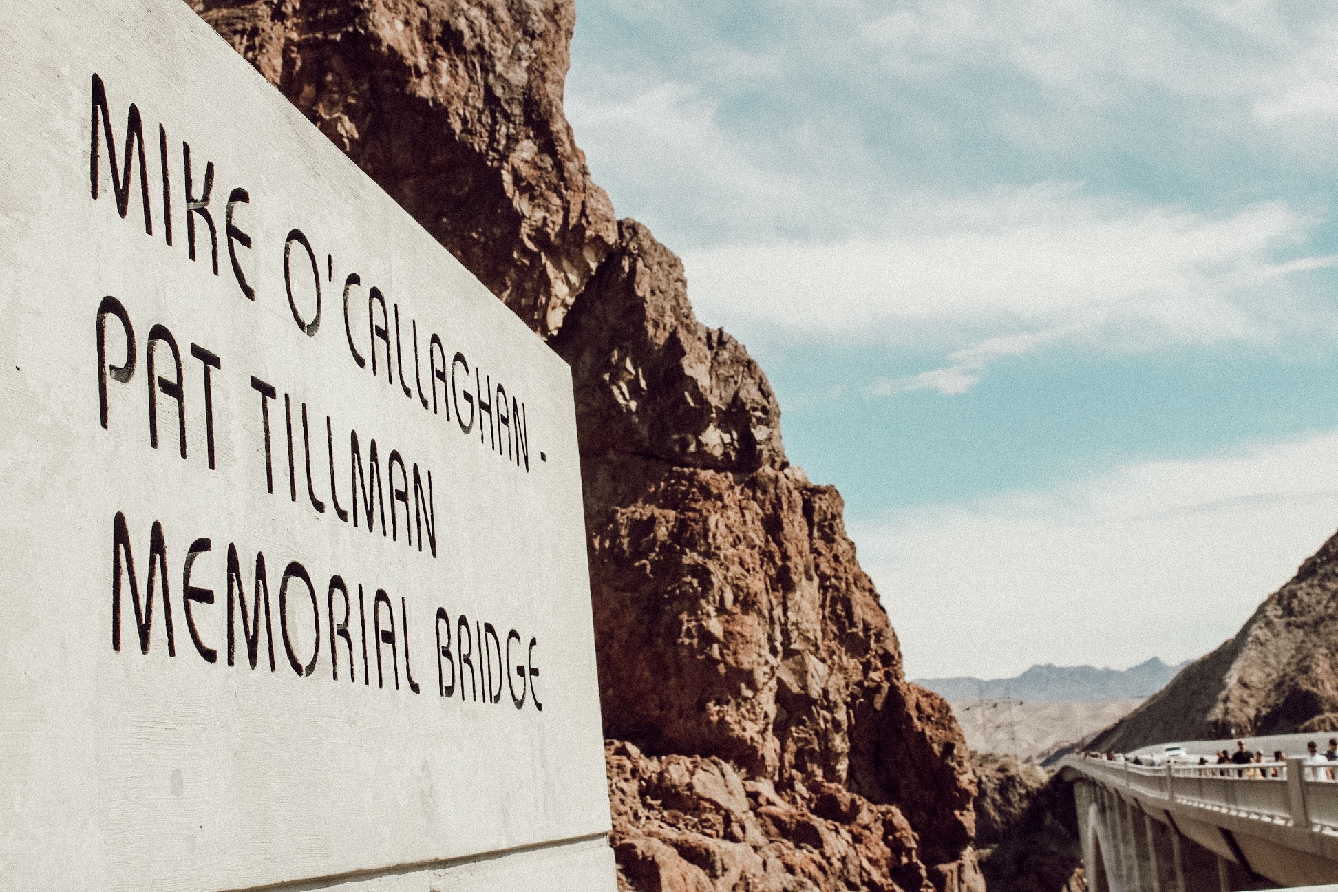 Mike O'Callaghan Pat Tillman Memorial Bridge at Lake Mead Hoover Dam