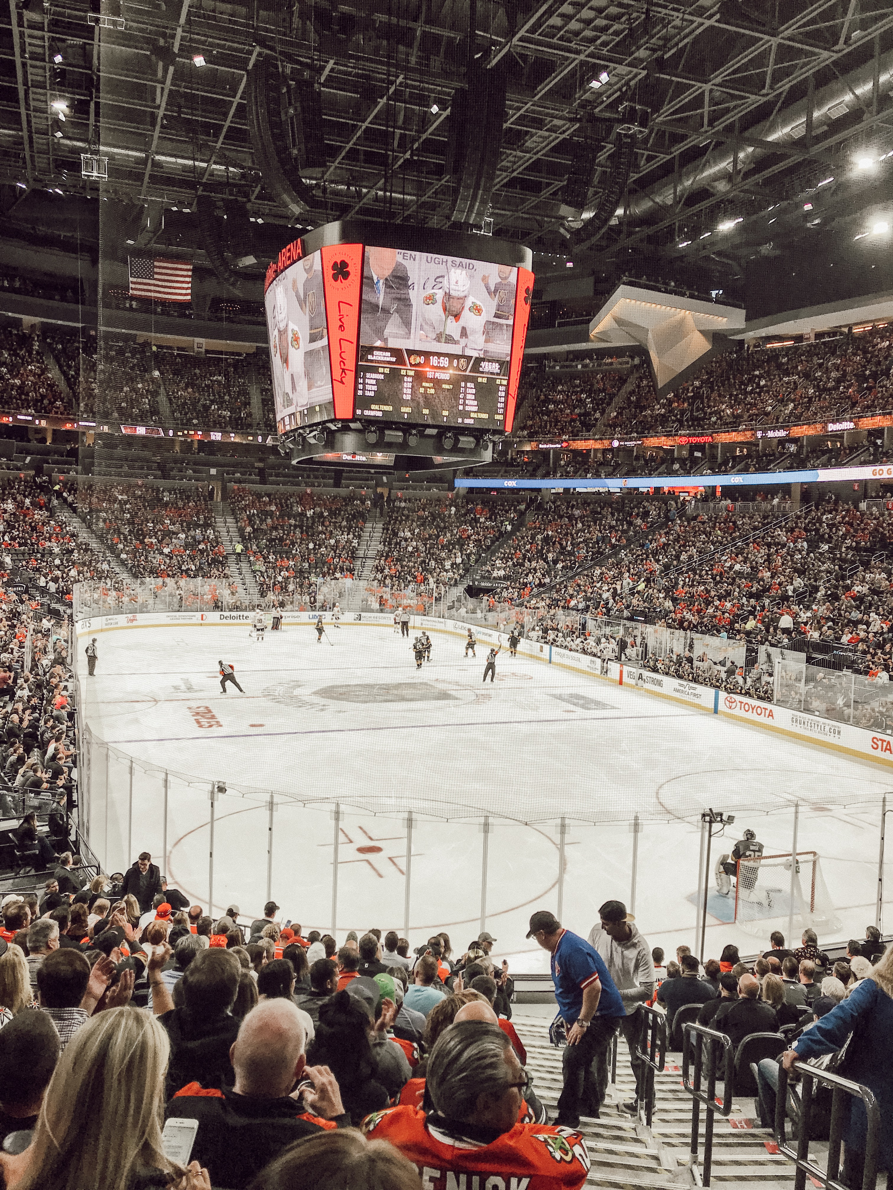 Golden Knights Hockey Game in the T Mobile Arena in Las Vegas