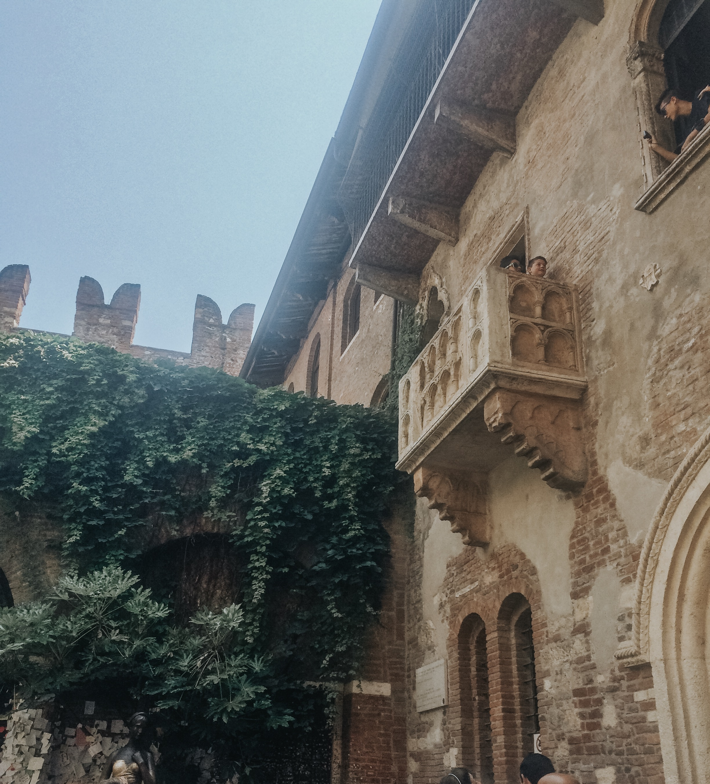 Romeo and Juliette's Balcony in Verona, Italy