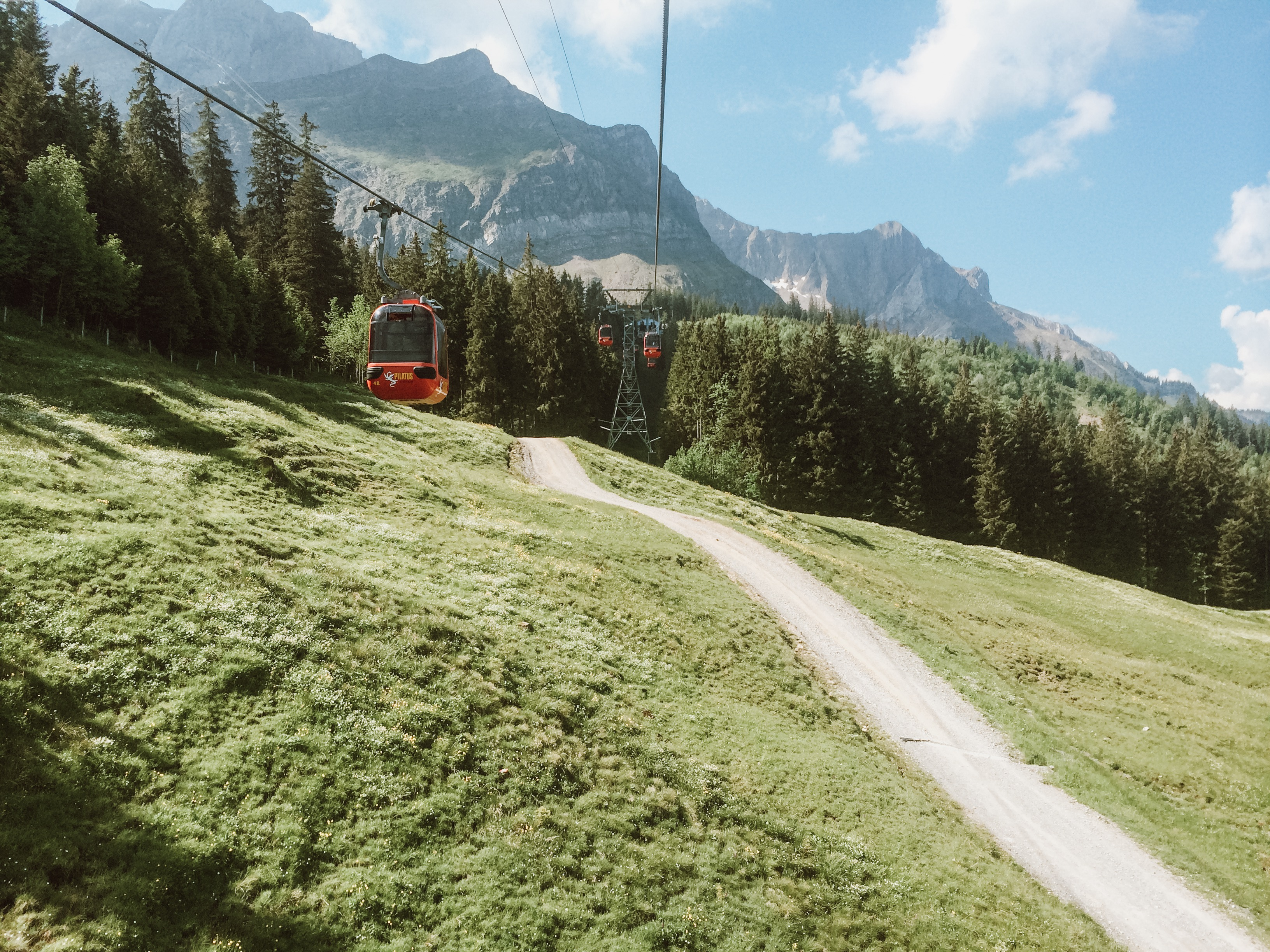 Switzerland Gondola to Mt Pilatus