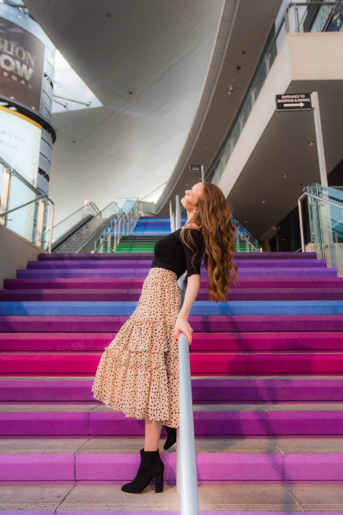 Rainbow Staircase at the Fashion Show Mall