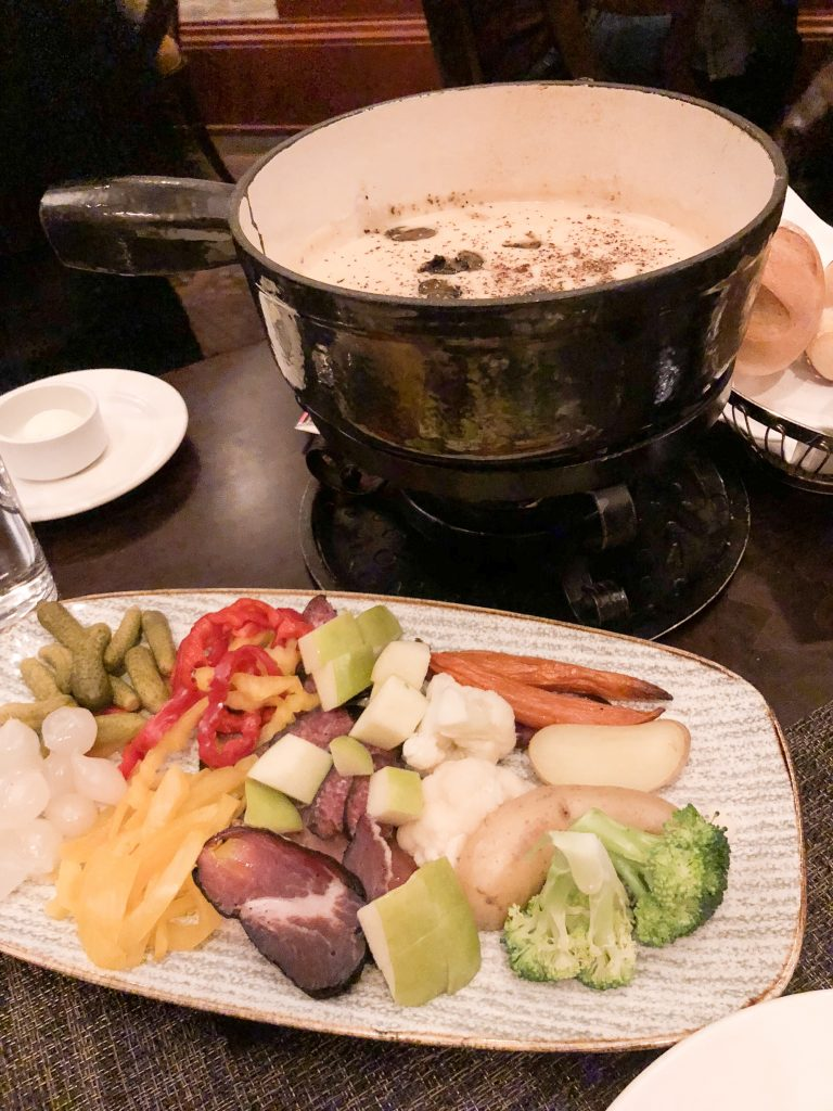Gruyere Fondue at Walliser Stube