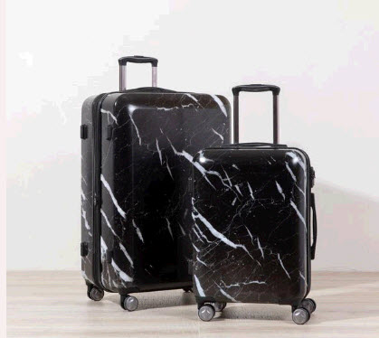 Black Marble Luggage Set