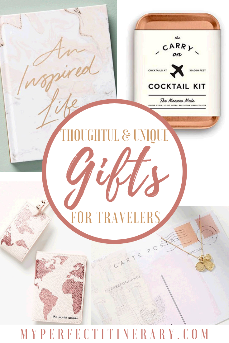 20 thoughtful and unique gifts for travelers, christmas gifts for a person who loves to travel, gifts for the female traveler, birthday gifts for someone who loves to travel,