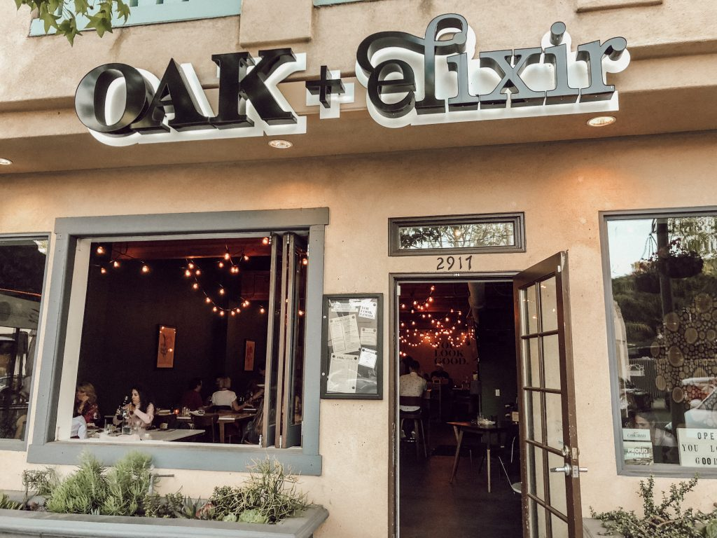 Oak + Elixir Wine Bar in The Village Carlsbad