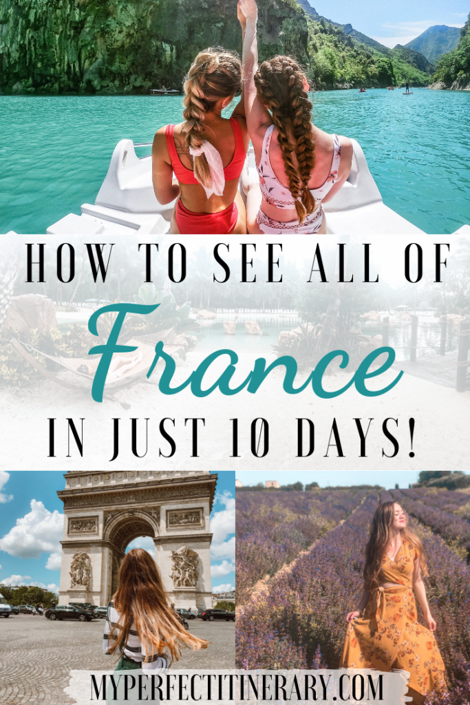 10 Day France Itinerary Pin