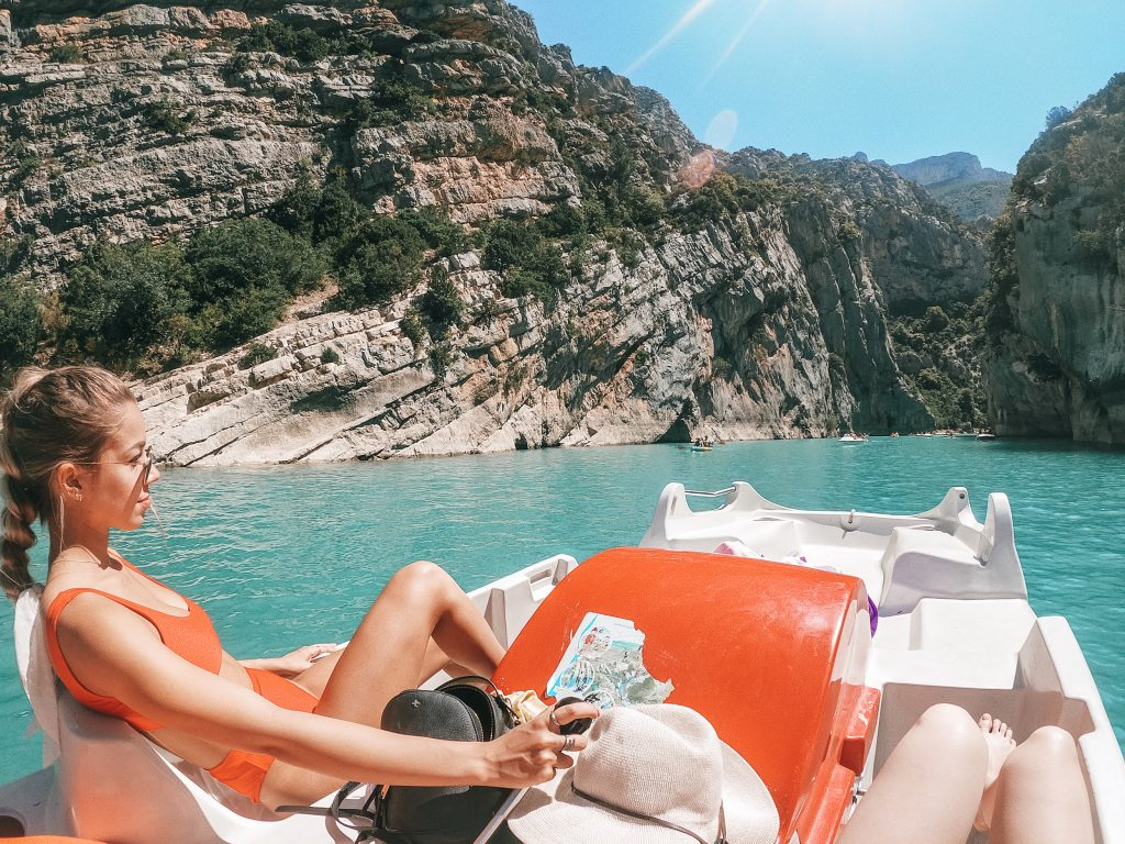 Peddle boating through the Gorges du Verdon