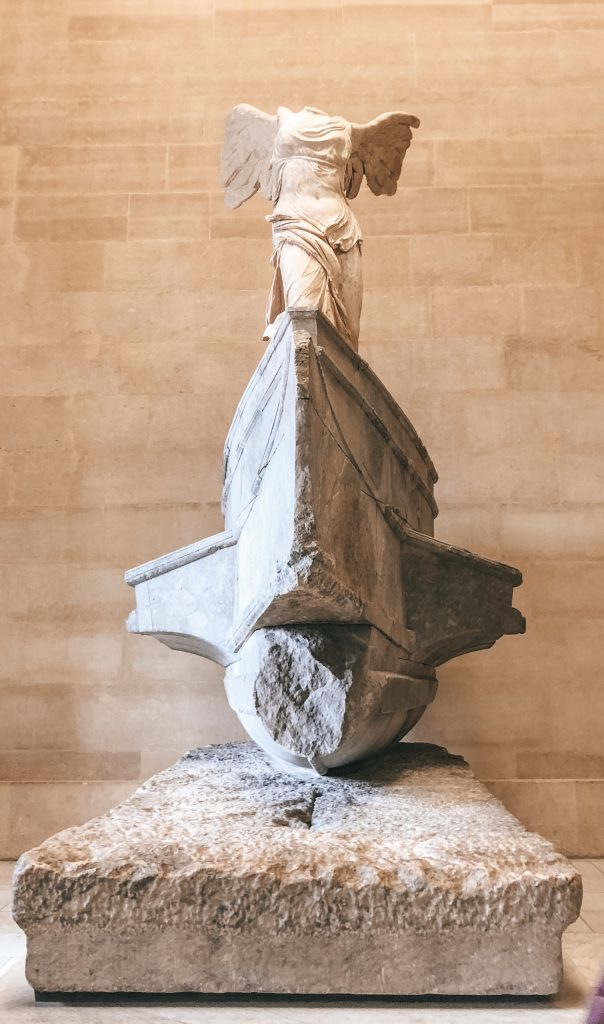 Winged Victory in the Louvre Museum