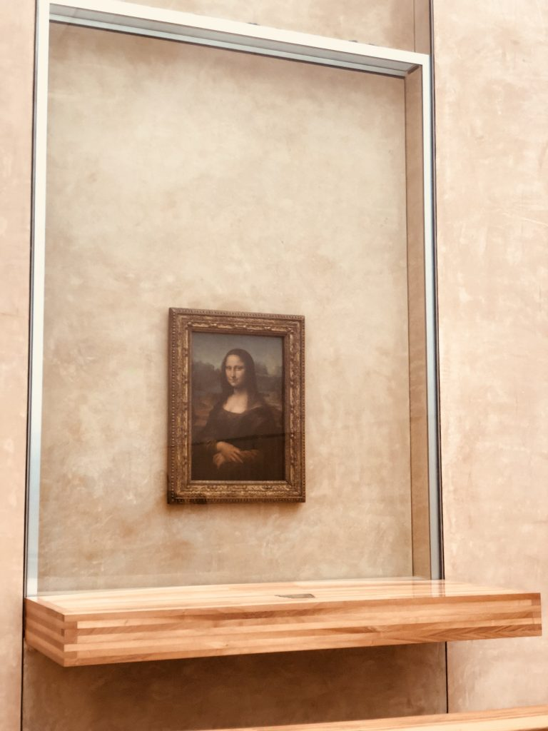 Visiting the Mona Lisa in the Louvre Museum