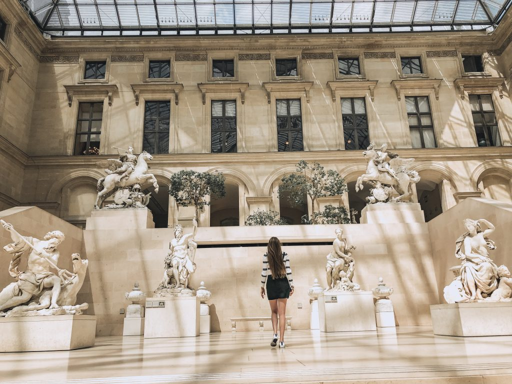 Sculpture courtyards in the Louvre Museum