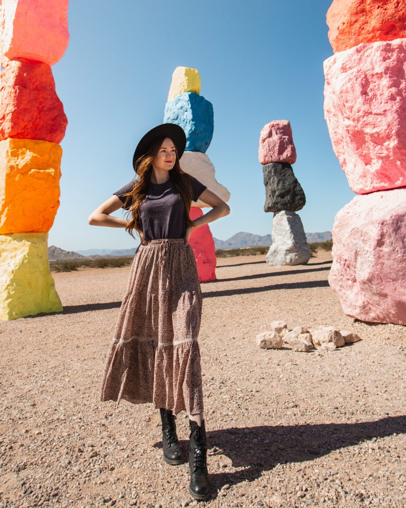 Seven Magic Mountains in Las Vegas