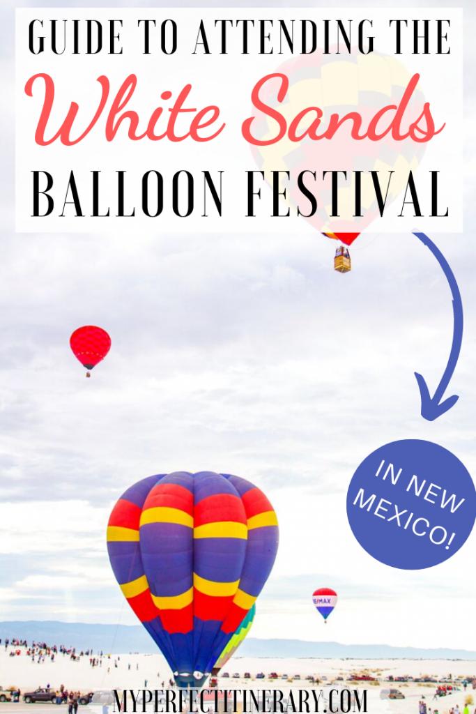 White Sands Balloon Festival Pin
