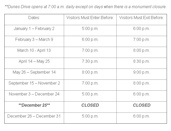 White Sands National Monument Hours