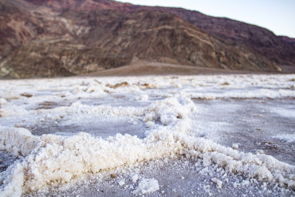 Badwater Basin Salt Flats in Death Valley