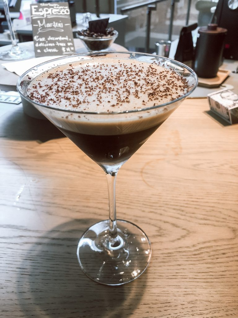 Espresso Martini's at the Largest Starbucks Reserve in the world located in Chicago