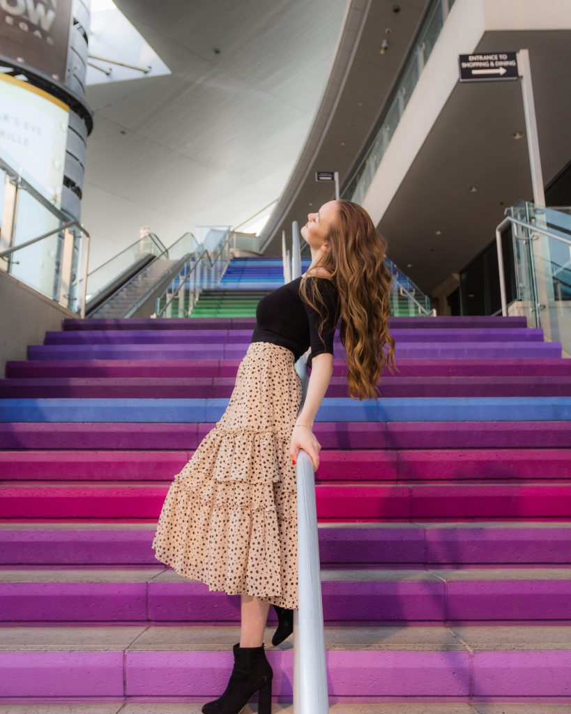 Rainbow Staircase at the Fashion Show Mall in Las Vegas