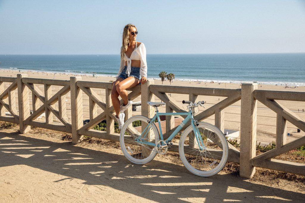 Girls trip to San Diego - Renting Beach bikes on the board walk