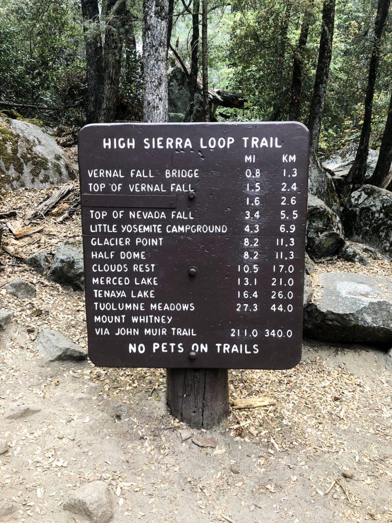 Vernal Falls Hike in Yosemite National Park