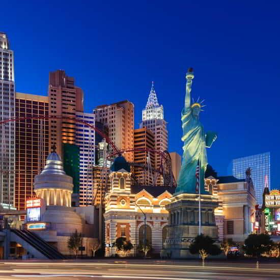 NYNY Roller Coaster on the Las Vegas Strip