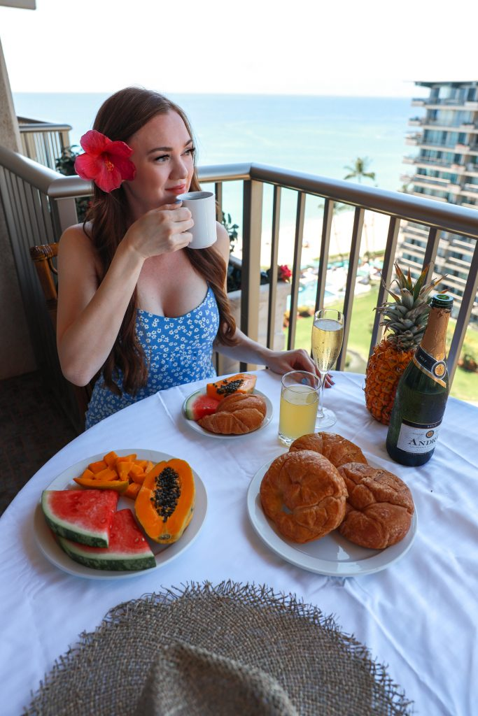 Breakfast at the Aston at the Whaler on Kaanapali Beach