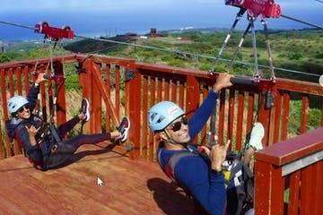 ZIp Lining in Maui